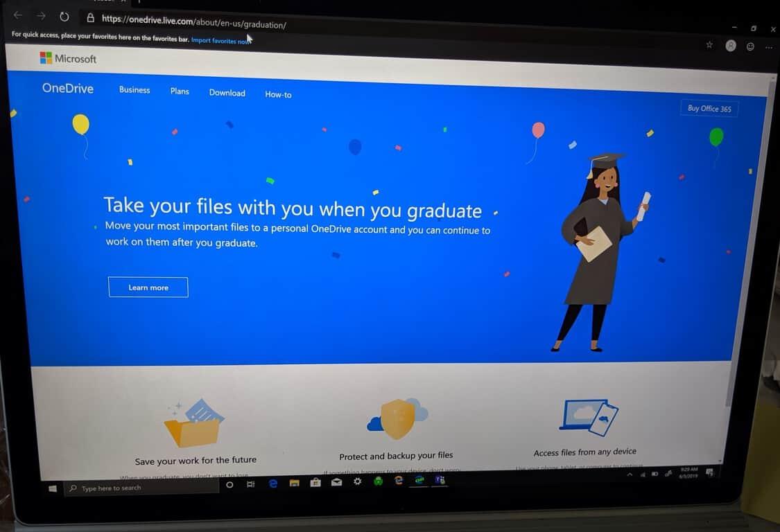 Microsoft OneDrive Office 365 backup