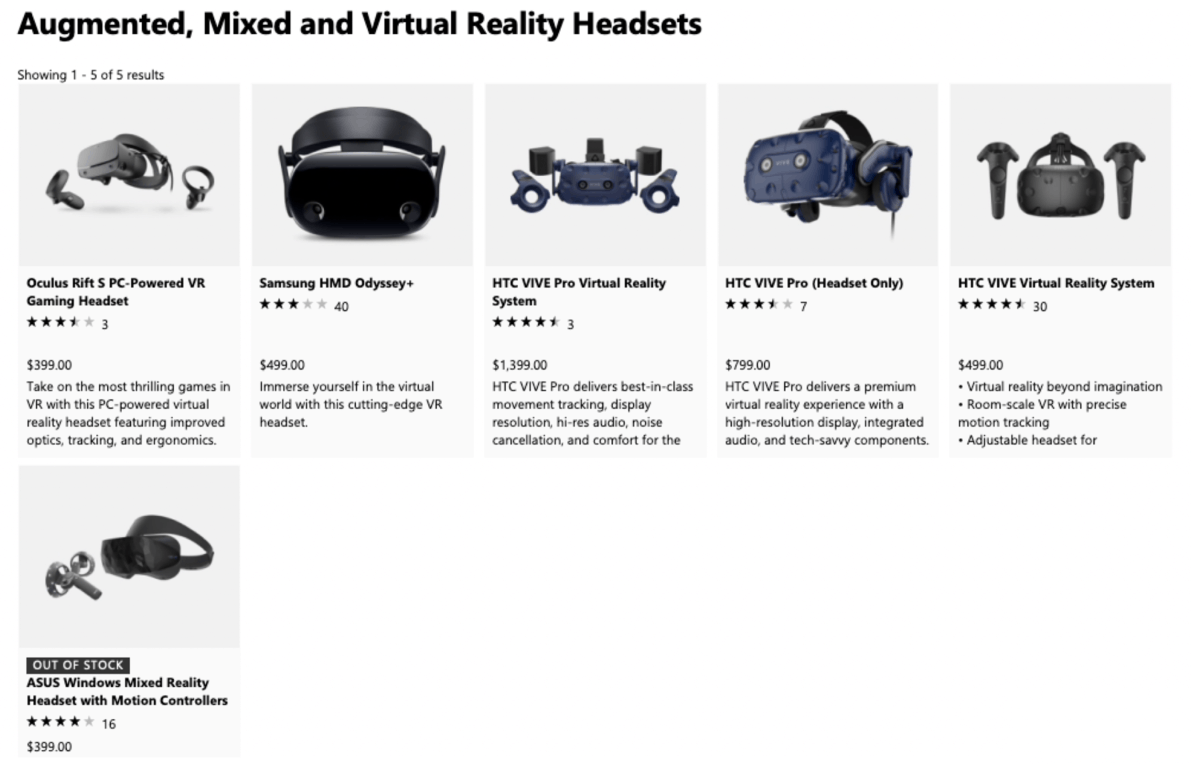 Only one Windows Mixed Reality headset still available on the Microsoft Store, stocks also limited on Amazon OnMSFT.com June 25, 2019