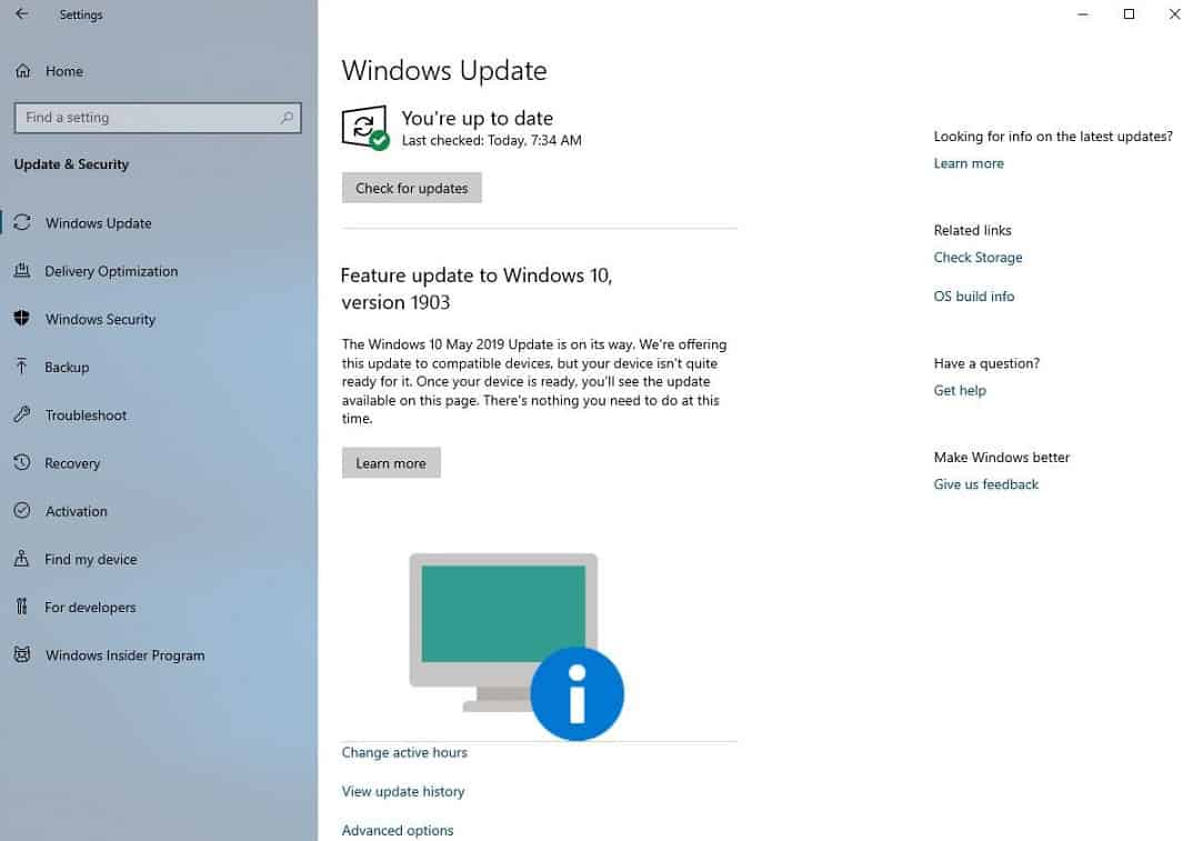 Windows Update can now tell you if your PC isn't ready for the May 2019 Update OnMSFT.com June 21, 2019