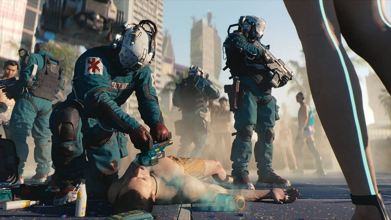 Cyberpunk 2077 video game on Xbox One