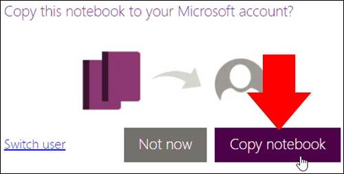 Microsoft screenshot of saving OneNote class notebooks