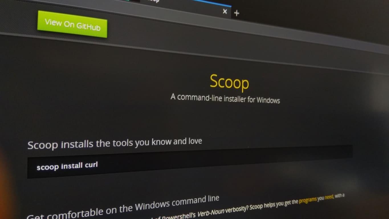 Photo of the Scoop website