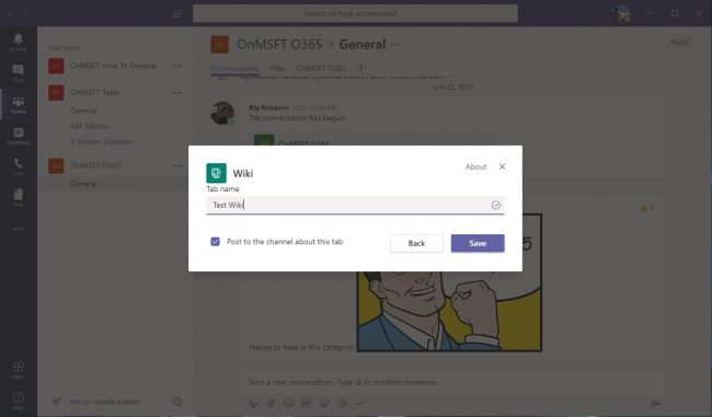 How to communicate effectively with the Wiki tab in Microsoft Teams OnMSFT.com July 25, 2019
