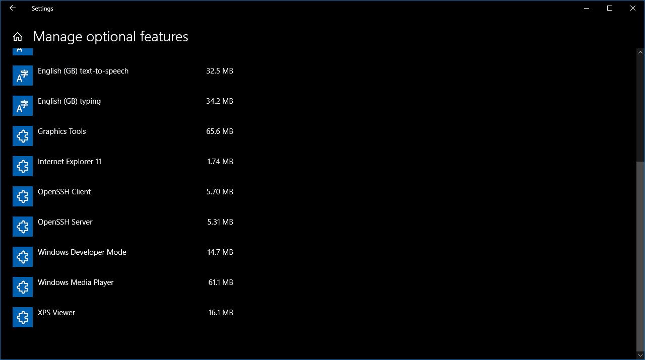 Adding OpenSSH Client in Windows 10