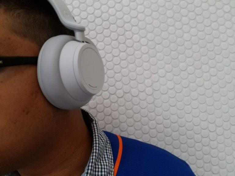 Surface Headphones Wearing