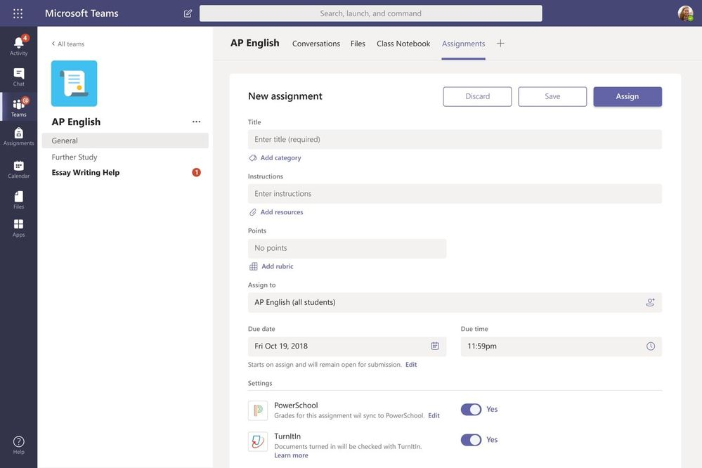 Microsoft teams for education gets an updated assignments experience - onmsft. Com - august 2, 2019