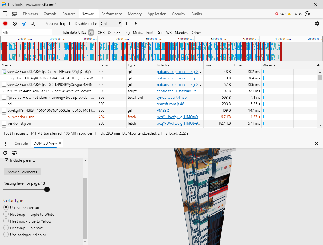 """Edge dev/canary adds 3d dom viewer, """"inspired by"""" firefox's tilt - onmsft. Com - august 6, 2019"""