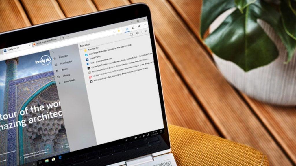 Microsoft Edge Browser on a Windows 10 laptop.