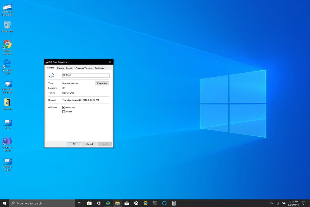 How to mount removable storage as permanent storage in Windows 10