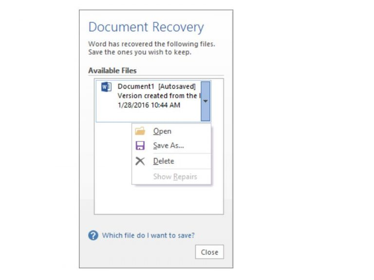 Lose your important file in word? Here's how to recover or restore it