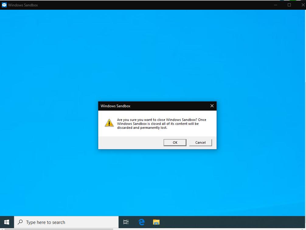 Leaving Windows Sandbox