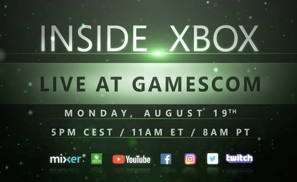 All new Inside Xbox to kick off next week's gamescom 2019 from Cologne, Germany