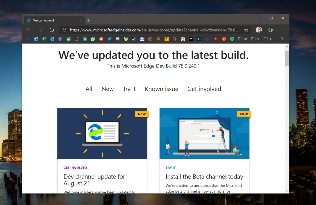 Latest Microsoft Edge Dev channel update brings Tracking Prevention, form fill and password syncing