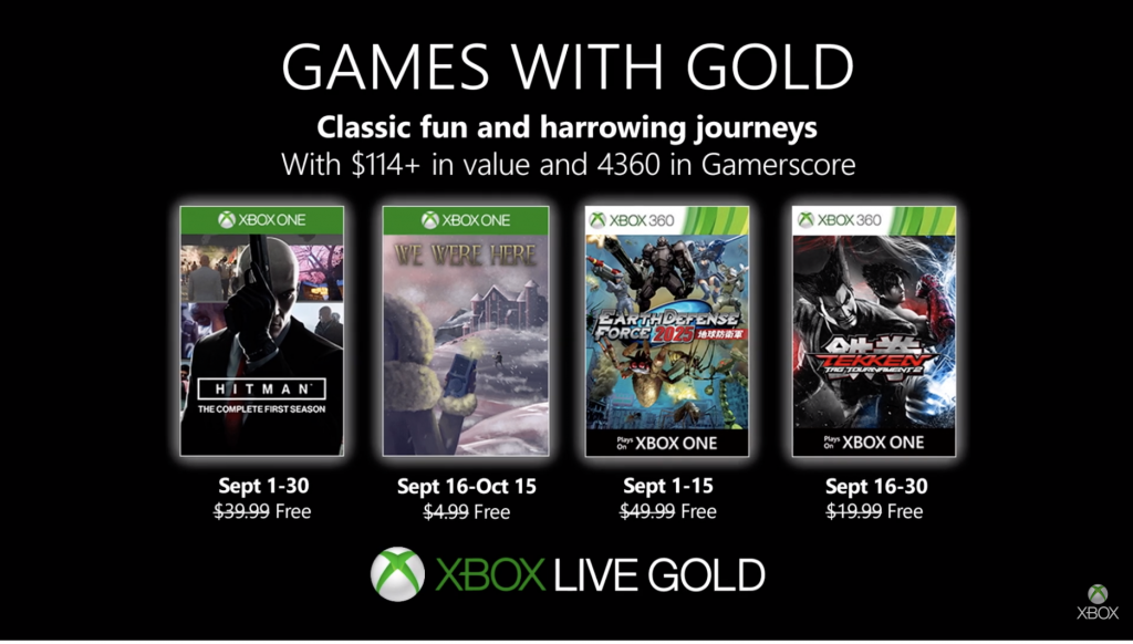 Hitman: The Complete First Season and Tekken Tag Tournament 2 highlight September's Games with Gold