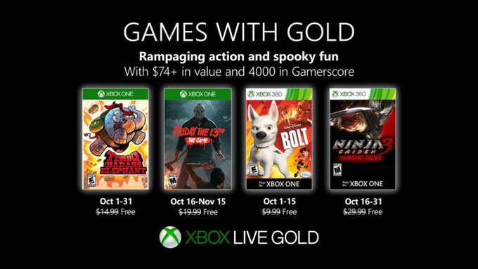 Friday The 13th The Game And Ninja Gaiden 3 Highlight Games With Gold For October Onmsft Com