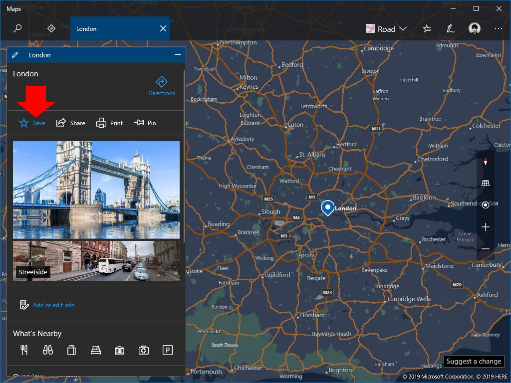 Collections in windows maps