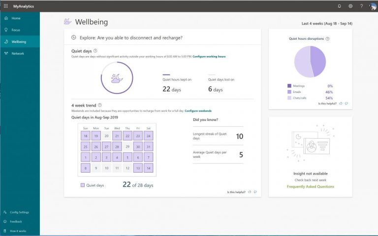 Stay healthy at work: Hands on with MyAnalytics in Office 365