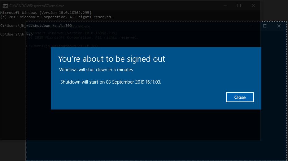 Schedule a shutdown in windows 10