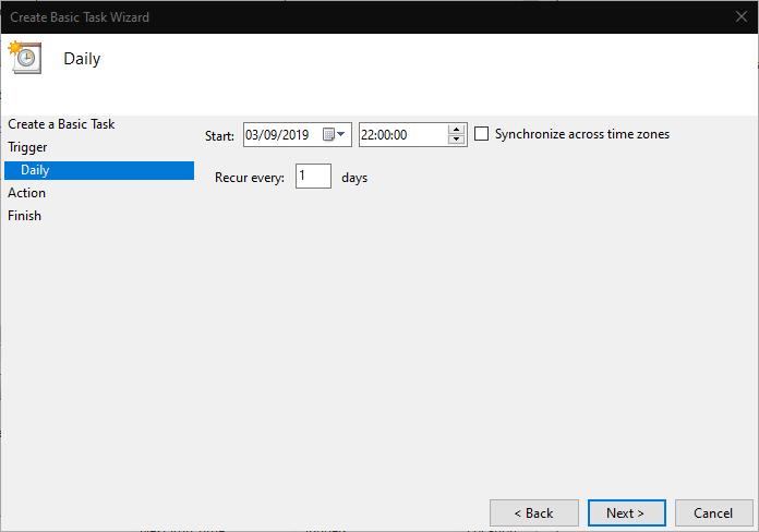 How to schedule a shutdown in windows 10