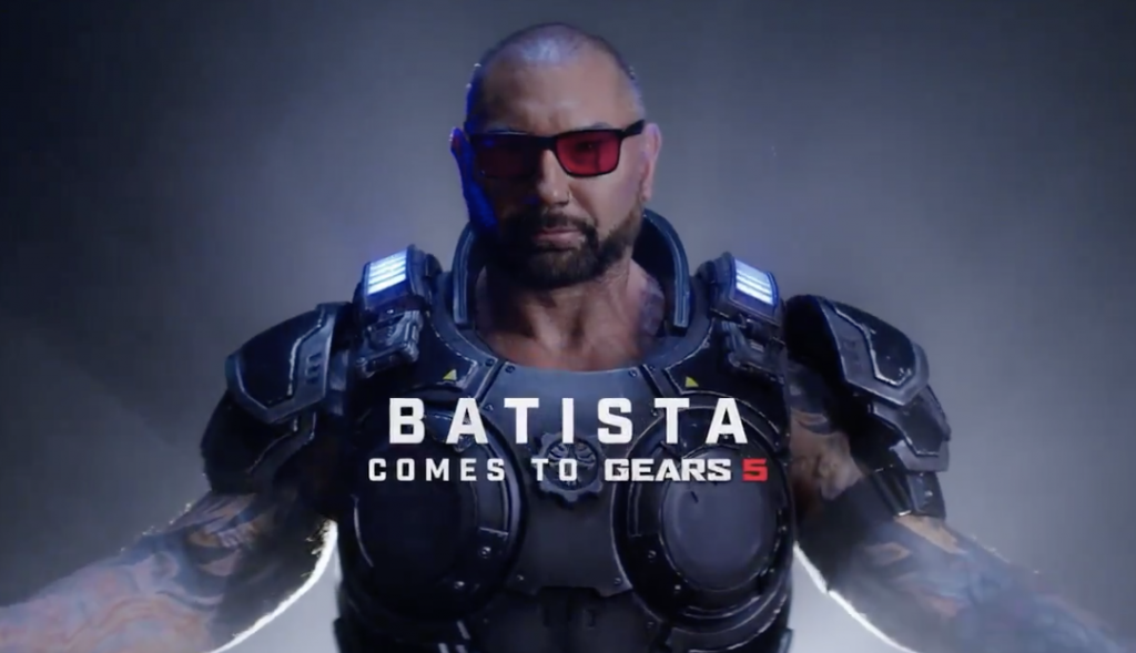 Former professionnal wrestler Dave Bautista is coming to Gears 5 as a playable character