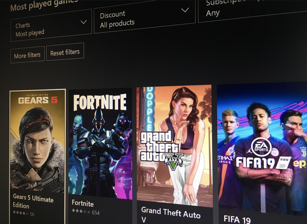 Gears 5 is currently the most played game on Xbox One, beating Fortnite and GTA V