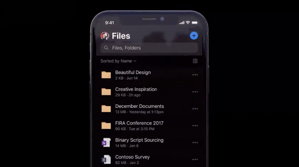 OneDrive for iOS gets dark mode support just in time for iOS 13