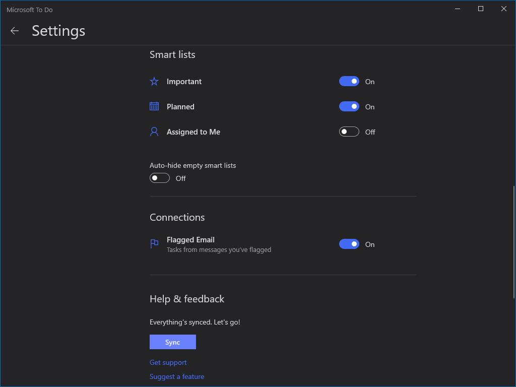 Screenshot of microsoft to-do