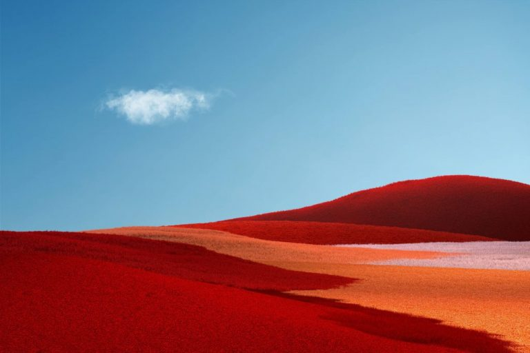 """Here's what the surface pro x wallpaper blended with windows xp's """"bliss"""" looks like - onmsft. Com - october 9, 2019"""
