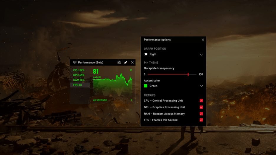 Windows 10 Xbox Game Bar gets FPS Counter And Achievement Tracking OnMSFT.com October 22, 2019