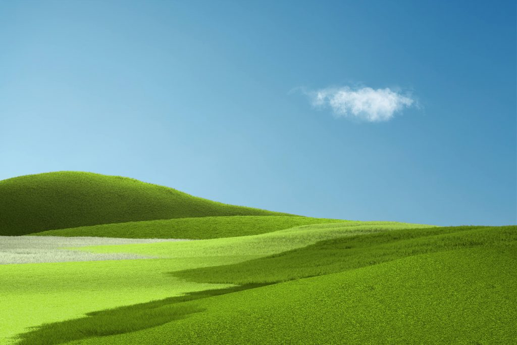 Here S What The Surface Pro X Wallpaper Blended With Windows Xp S Bliss Looks Like Onmsft Com