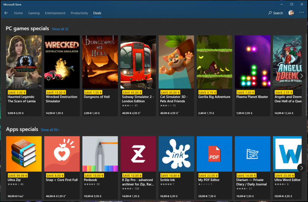 Windows 10 Microsoft Store gets new tabbed interface that better highlights PC games and Deals OnMSFT.com October 18, 2019