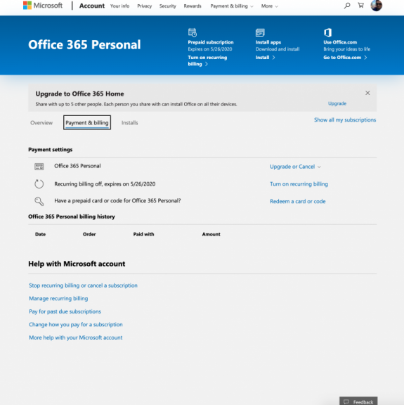 How to manage, cancel, or modify your Office 365 Subscription OnMSFT.com October 21, 2019