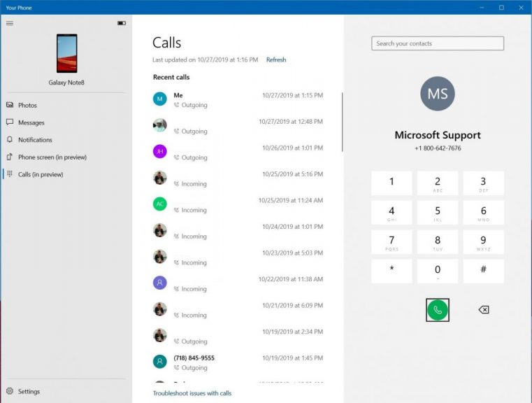Hands-on with the Phone Calls feature in the Windows 10 Your Phone App: It's quite surprising OnMSFT.com October 28, 2019