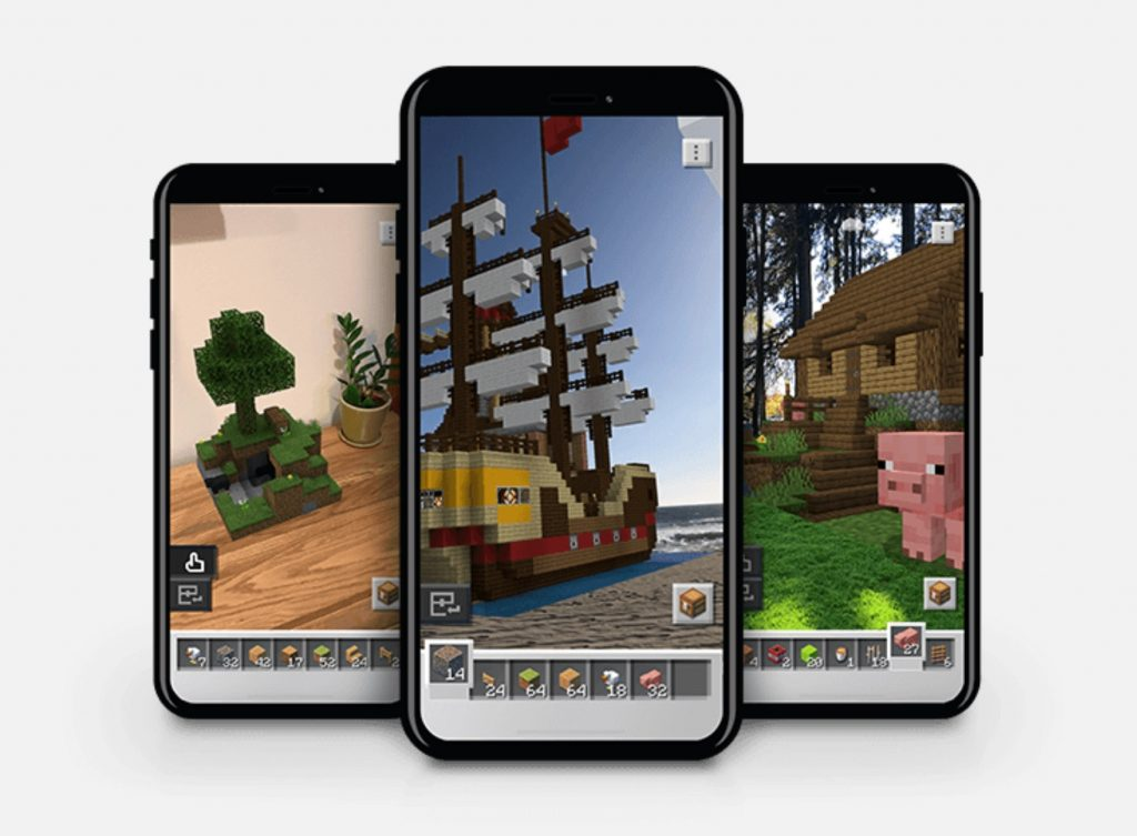 Minecraft earth on phones
