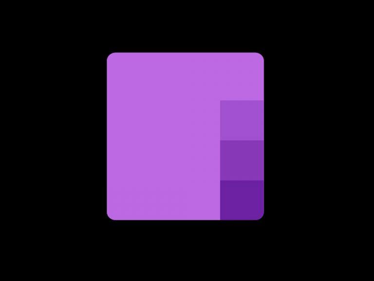 Microsoft's onenote app on ios, dark mode