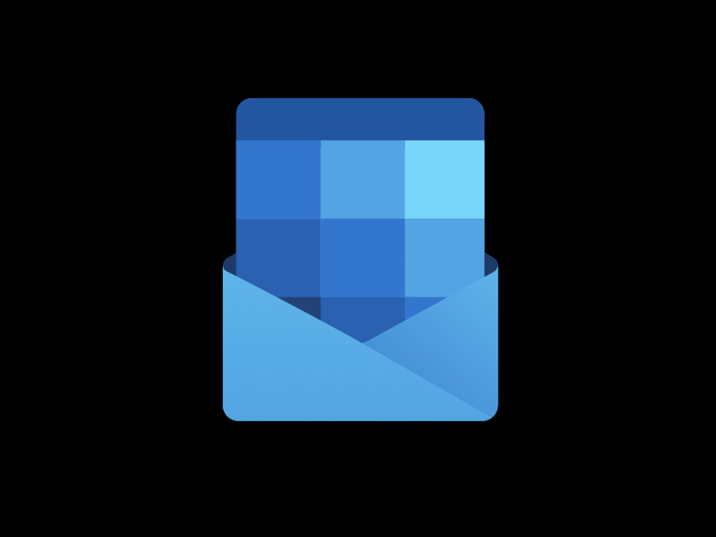 Microsoft Outlook dark mode icon