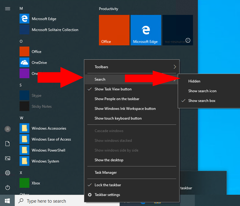 How To Hide The Search Bar In Windows 10 Onmsft Com