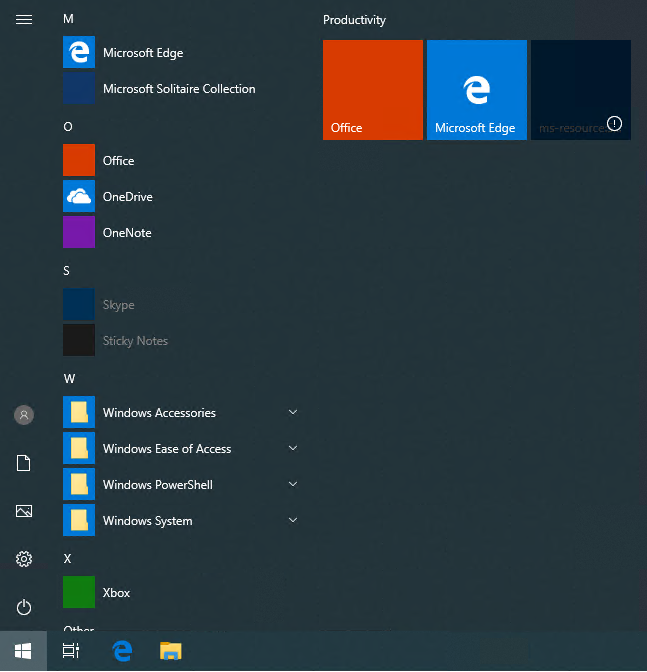 Hiding the search bar in Windows 10