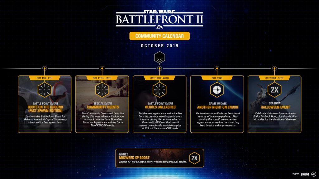 Star Wars Battlefront II October 2019 Roadmap