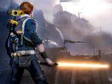 Cal's orange lightsaber in Star Wars: Jedi Fallen Order video game on Xbox One