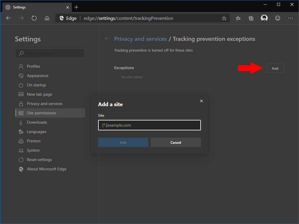 Tracking Prevention in Microsoft Edge