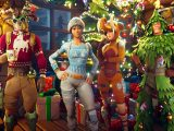 Winterfest 2019 event in fortnite video game on xbox one