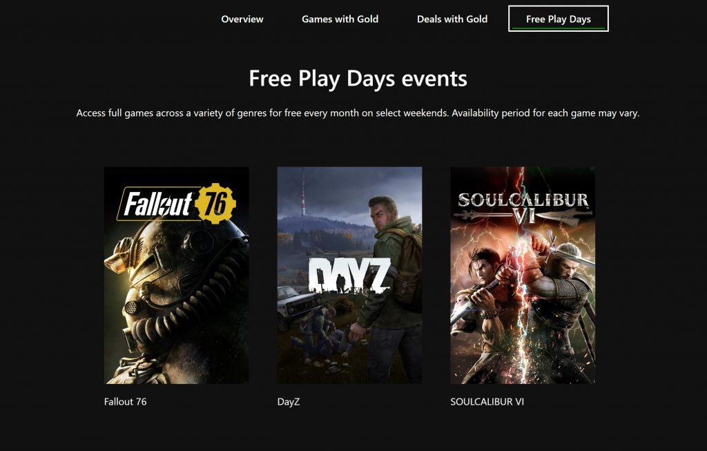 Fallout 76, DayZ, Soulcalibur VI