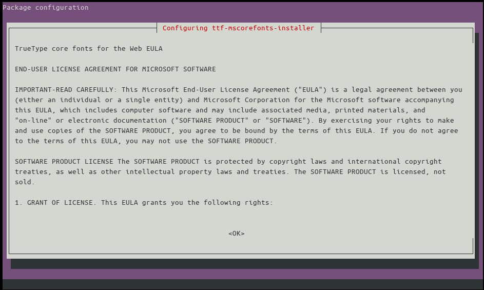 Installing Microsoft fonts on Ubuntu