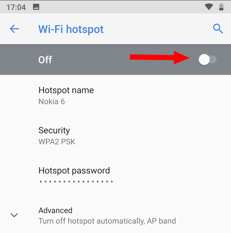 Enabling Wi-Fi hotspot in Android