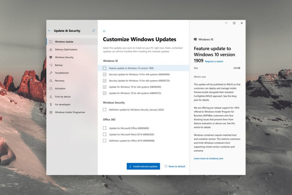 Windows 10 Update Settings reimagined; include new customization options and progress UI OnMSFT.com January 23, 2020