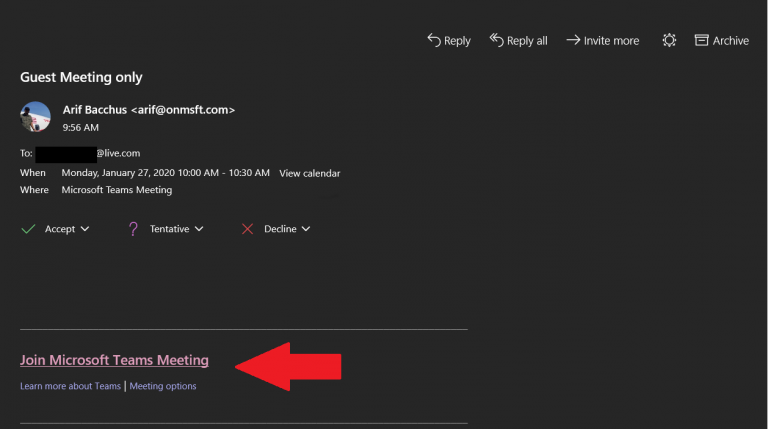 No teams? No problem! Here's how to join meetings as a guest in teams - onmsft. Com - january 27, 2020