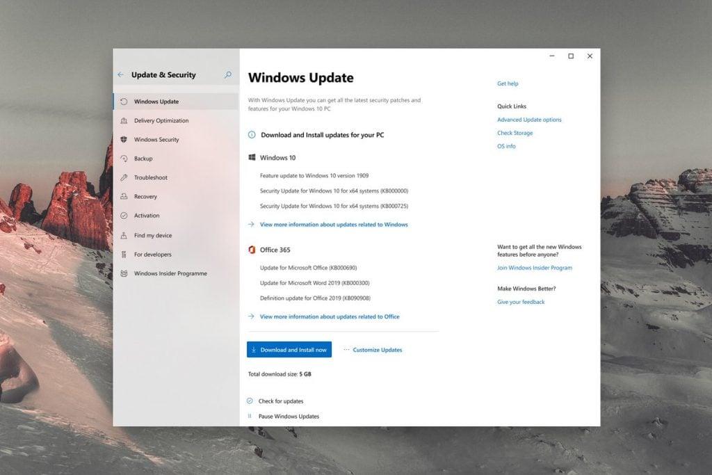 Windows 10 update settings reimagined; include new customization options and progress ui - onmsft. Com - january 23, 2020