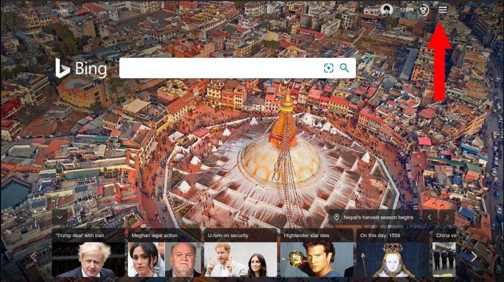 Bing homepage on 15-01-2020