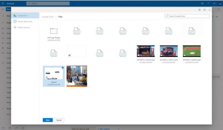Hands-on with the new gmail and google drive integration in outlook. Com - onmsft. Com - january 4, 2020